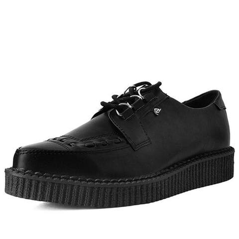 Hi Shine Lace Up Pointed Anarchic Creeper Shoes