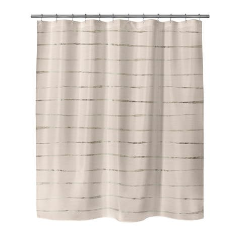 WAVY ABYSS PINK SMALL Shower Curtain By Kavka Designs