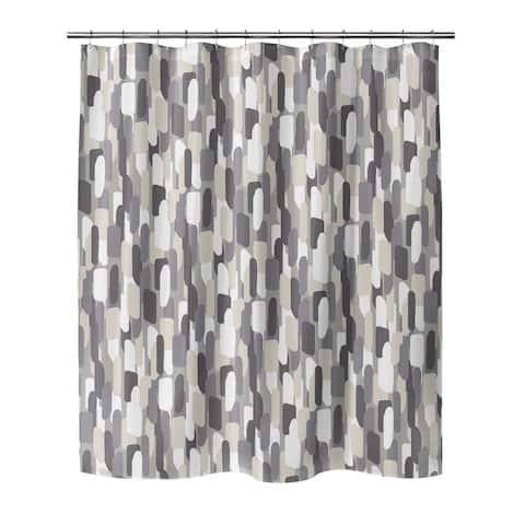 NEVALI V LIGHT GRAY Shower Curtain By Marina Gutierrez