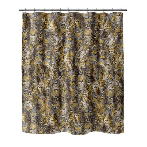 VIPER YELLOW Shower Curtain By Kavka Designs