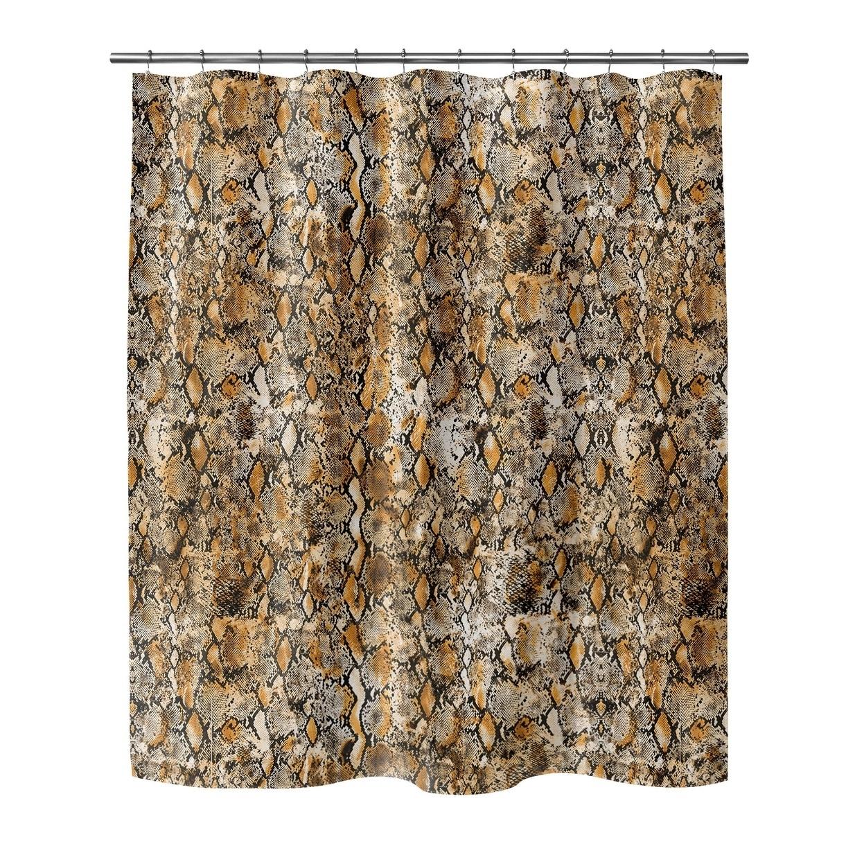 Shop Snakeskin Orange Shower Curtain By Kavka Designs On Sale Overstock 28574189