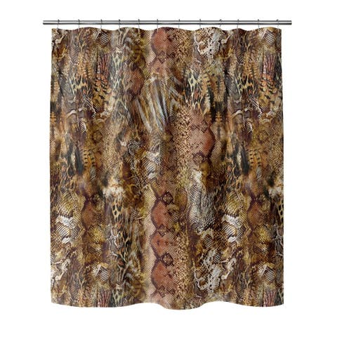 PYTHON COCOA Shower Curtain By Kavka Designs