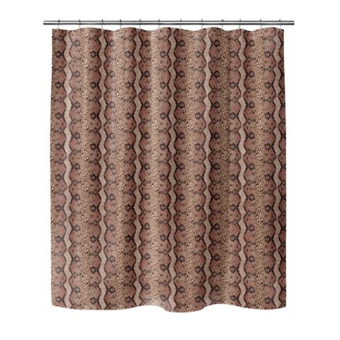 SNAKESKIN ROSE Shower Curtain By Kavka Designs