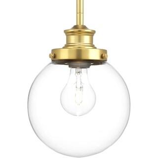 Carbon Loft McKinnon 1-light Pendant Fixture in Natural Brass (As Is Item)