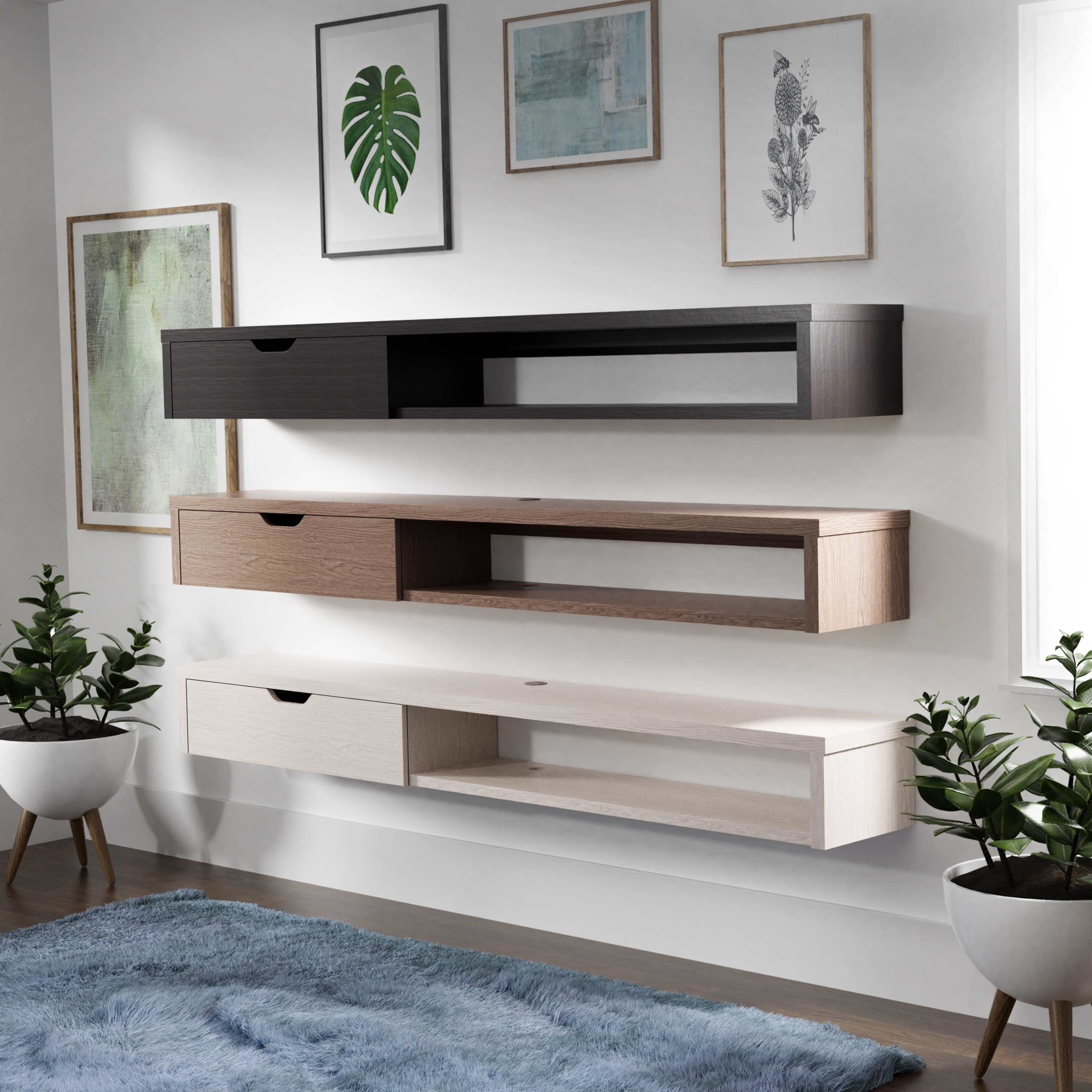 Carson Carrington Rydstorp Floating Wall Mounted Media Console On Sale Overstock 28575675 Cappuccino