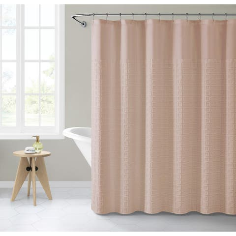 VCNY Home Clipped Geometric Shower Curtain