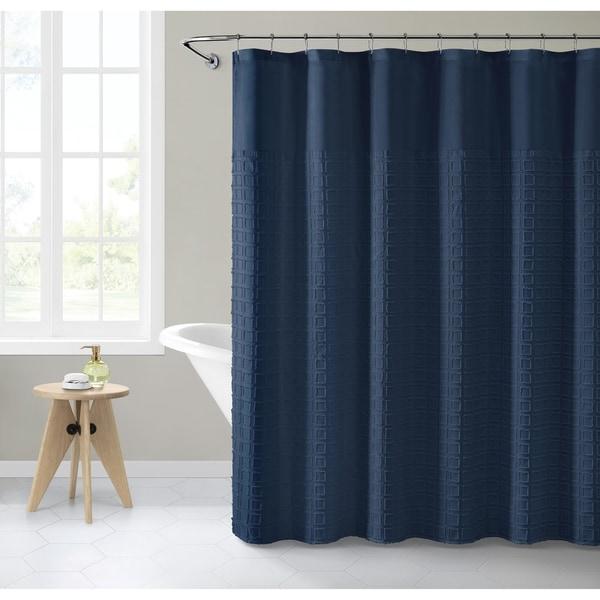 ZhongTian Simple Geometric Print Shower Curtain Polyester Shower Curtain for Bathroom Showers Bathtubs Gray 72inch