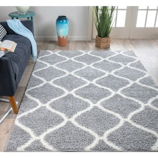 Porch & Den Trillium Moroccan Geometric Shag Area Rug