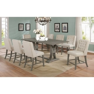 Link to Best Quality Furniture 9-Piece Rustic Counter Height Dining Set w/ Leaf Similar Items in Dining Room & Bar Furniture