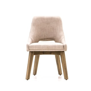 Kensington Beige Upholstered Dining Chairs, Set of 2