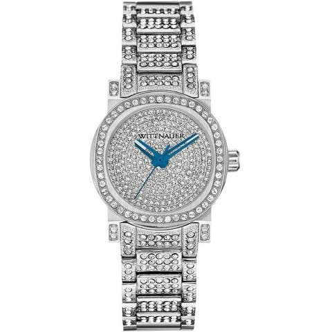 Wittnauer Women's WN4003 Stainless Crystal Pave Bracelet Watch