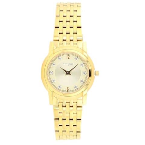 Wittnauer Women's 11P100 Astor Goldtone Diamond Accent Bracelet Watch - N/A