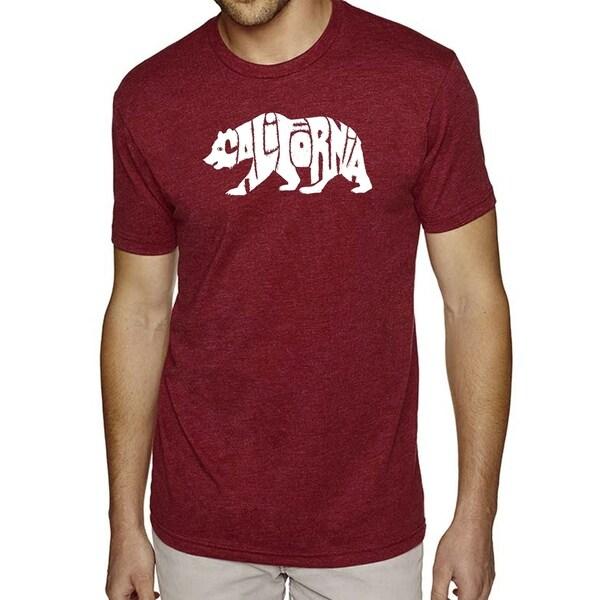 Mens Premium Blend Word Art T-shirt - California Bear - LA Pop Art