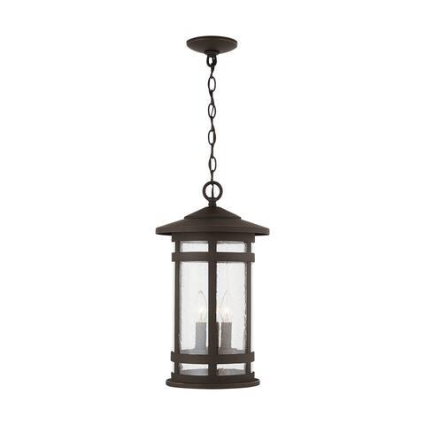 Mission Hills 3-light Oiled Bronze Outdoor Hanging Lantern