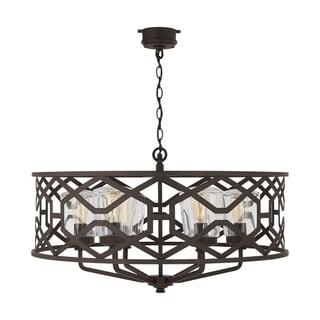 Link to 6-light Oiled Bronze Outdoor Chandelier Similar Items in Outdoor Ceiling Lights