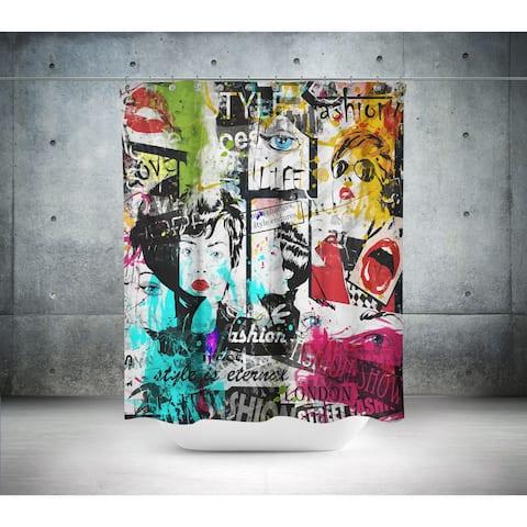 Oyo Concept Modern Graffiti Pop Art Shower Curtain
