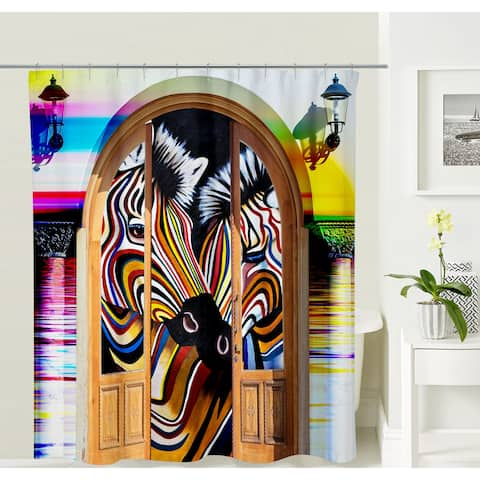 Oyo Concept Zebra Shower Curtain