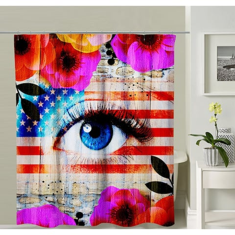 Oyo Concept American Flag Shower Curtain