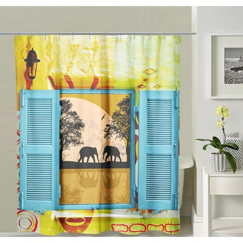 Oyo Concept Elephants Shower Curtain