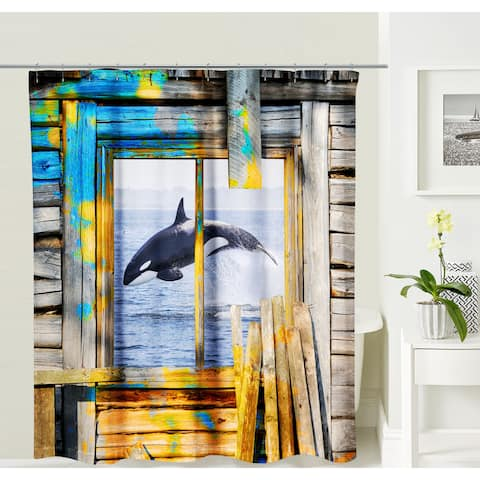 Oyo Concept Jumping Whale Shower Curtain