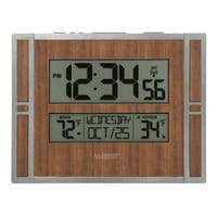La Crosse Technology BBB86088 Atomic Digital Wall Clock with Indoor & Outdoor Temperature