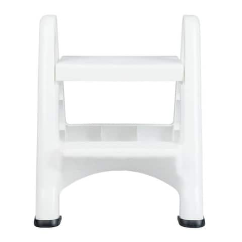 Rubbermaid 2 Step 25 in. H x 18.9 in. W 300 lb. Plastic 2 step Folding Step Stool