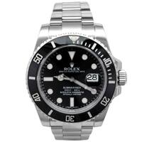 Pre-owned 40mm Rolex Stainless Steel Submariner Watch - N/A - N/A