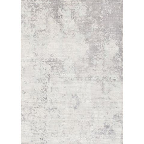 Pasargad Home Mirage Collection Hand-Loomed Silk Rug - 5' x 8'