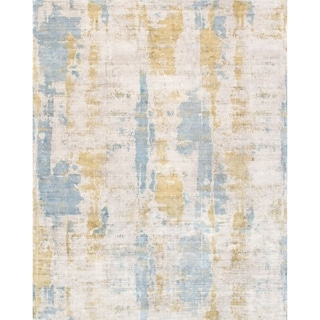 Pasargad Home Mirage Collection Hand-Loomed Silk Area Rug