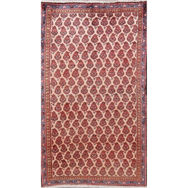 """Traditional Mahal Oriental Hand Knotted Wool Persian Rug - 5'10"""" x 3'4"""" Runner"""