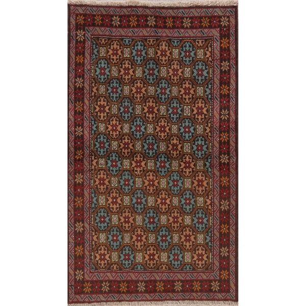 "Traditional Balouch Hand Knotted Persian Oriental Wool Rug - 5'9"" x 3'4"" Runner"
