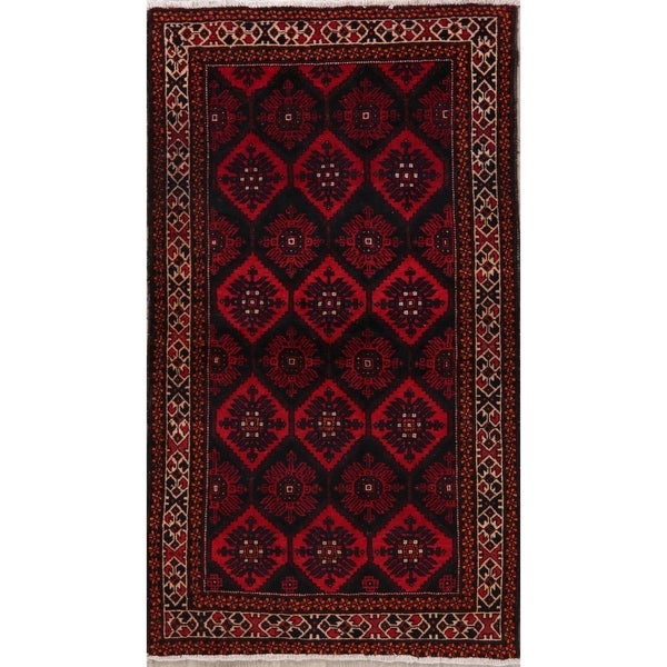 """Balouch Oriental Hand Knotted Wool Persian Transitional Area Rug - 6'10"""" x 3'10"""""""