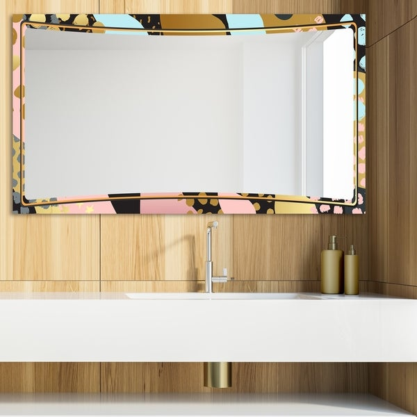 Designart 'Playful Gold 22' Glam Mirror - Modern Vanity Mirror - Multi