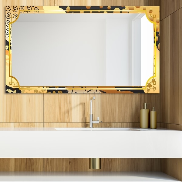 Designart 'Playful Gold 11' Glam Mirror - Modern Vanity Mirror
