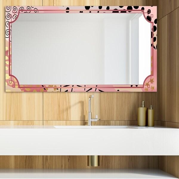 Designart 'Playful Gold 10' Glam Mirror - Modern Vanity Mirror - Multi