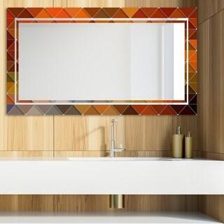 Designart 'Triangular Colourfields 39' Glam Mirror - Modern Vanity Mirror - Multi