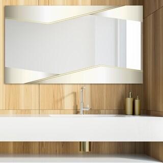 Designart 'Capital Gold Sleek 23' Glam Mirror - Modern Vanity Mirror