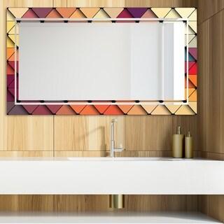 Designart 'Triangular Colourfields 42' Glam Mirror - Modern Vanity Mirror - Multi