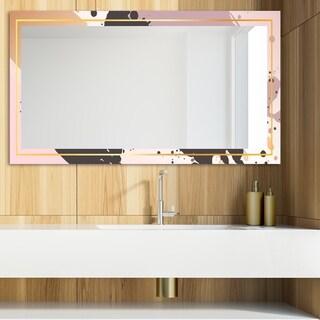 Designart 'Playful Gold 24' Glam Mirror - Modern Vanity Mirror