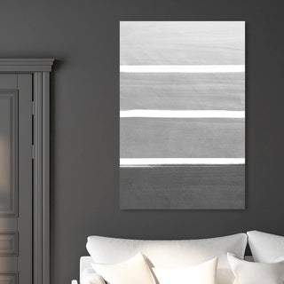 Oliver Gal 'The Right Shade of Grey' Abstract Wall Art Canvas Print - Gray