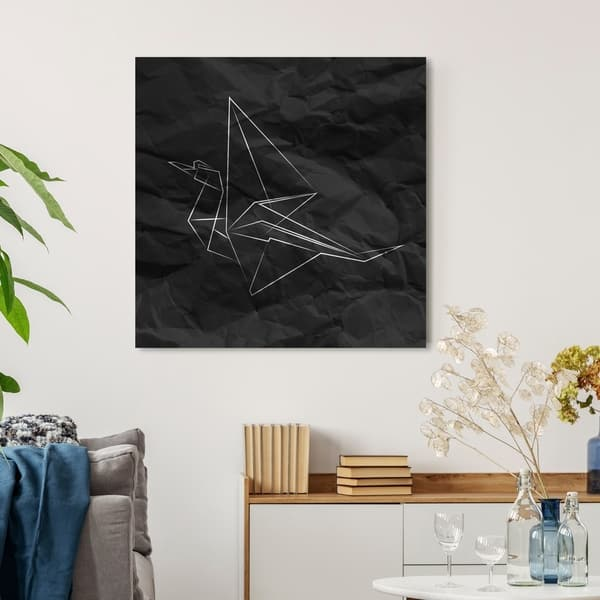 Shop Oliver Gal Origami Crane Abstract Wall Art Canvas