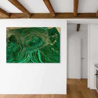 Oliver Gal 'Emerald Agate' Abstract Wall Art Canvas Print - Green, Gold