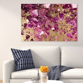 Oliver Gal 'Rocaglam' Abstract Wall Art Canvas Print - Pink, Gold