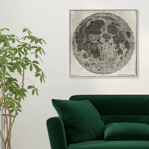 Oliver Gal 'Moon Craters' Astronomy and Space Wall Art Canvas Print - Gray, White