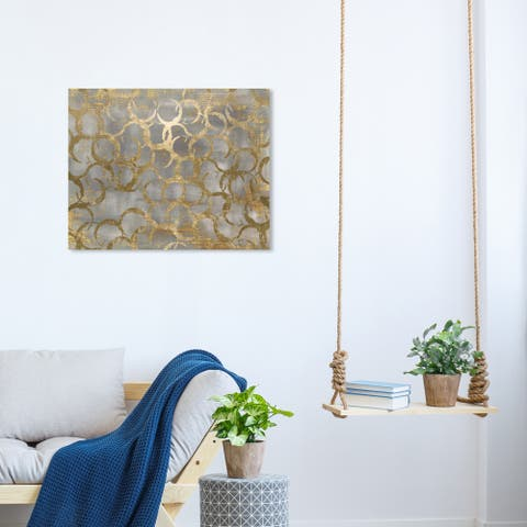 Oliver Gal 'Old Coins' Abstract Wall Art Canvas Print - Gold, Gray