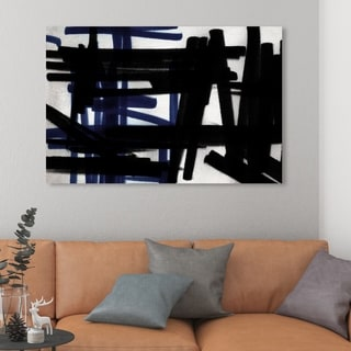 Oliver Gal '15116' Abstract Wall Art Canvas Print - Black, White