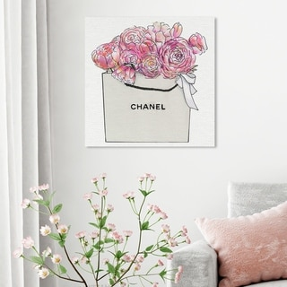 Oliver Gal 'Market Day Flowers' Floral and Botanical Wall Art Canvas Print - Pink, White