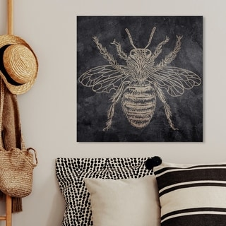Oliver Gal 'Bee' Animals Wall Art Canvas Print - Gold, Black