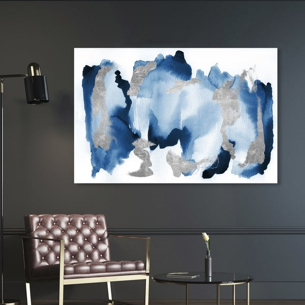 Oliver Gal 'In Too Deep' Abstract Wall Art Canvas Print - Blue, Gray. Opens flyout.
