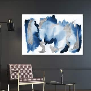 Oliver Gal 'In Too Deep' Abstract Wall Art Canvas Print - Blue, Gray